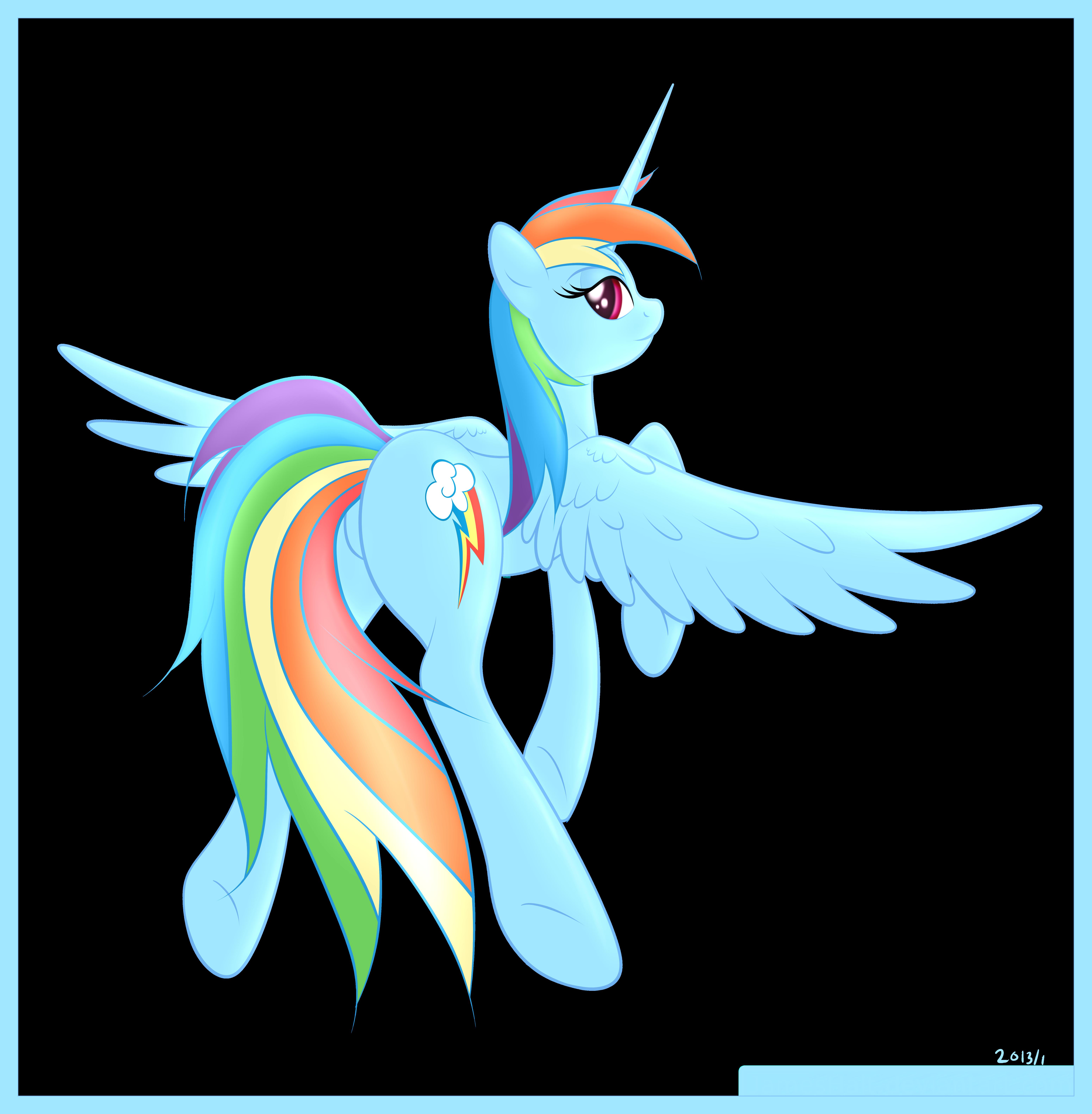Alicorn Rainbow Dash by JamesHalt on DeviantArt