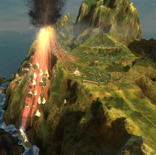 BandW2: Epic Miracle /Volcano by Melafy-Starbringer