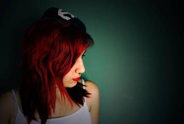 Hide behind her Red Locks