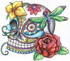 Day of the Dead Skull by TikiTavi