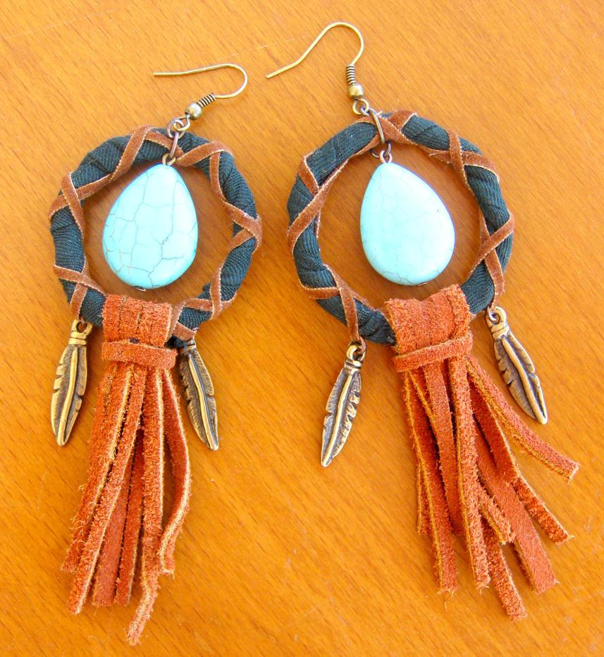 Bohemian Earrings by pestenkerani on DeviantArt