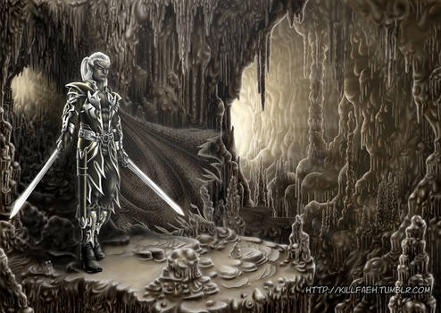 Zaknafein through Underdark