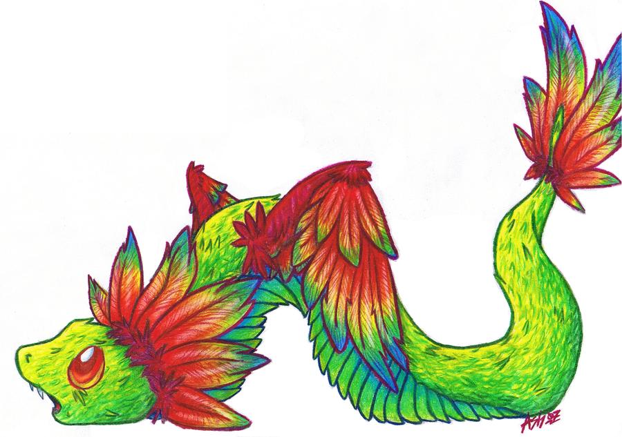 Kanji Karuson's Zan Baby_Winged_Snake___RAINBOWS_by_StormRing
