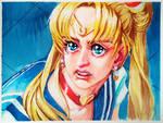 Sailor Moon redraw by MetAnnie