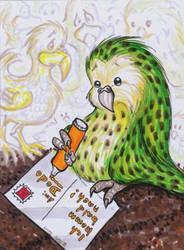 ACEO kakapo and dodo by Nenu