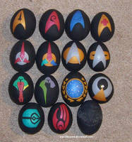 Star Trek egg ornaments by kryz-flavored