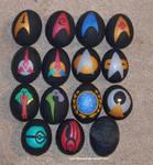Star Trek egg ornaments