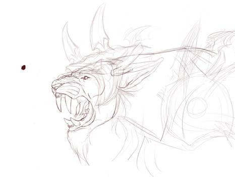 Fandral Firecat derpsketch