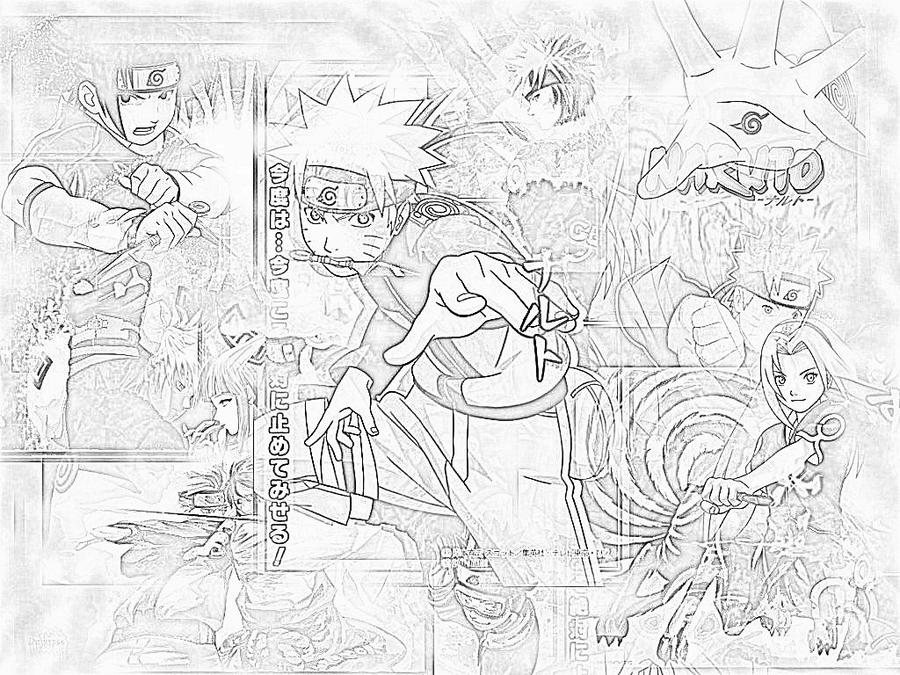 Naruto Collage-Black And White By CarlosRKB On DeviantART