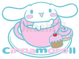 Cinnamoroll In a Tea Cup by OkashiTi