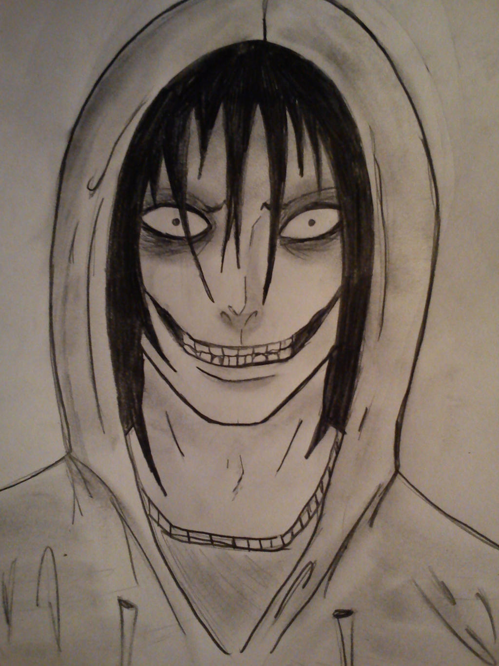 This is a graphic of Insane Jeff The Killer Anime Drawing