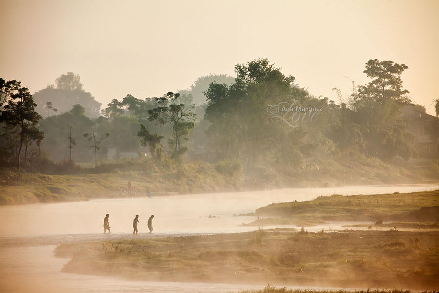 Sunrise in Chitwan, Nepal by Anamartinez-Fotograf