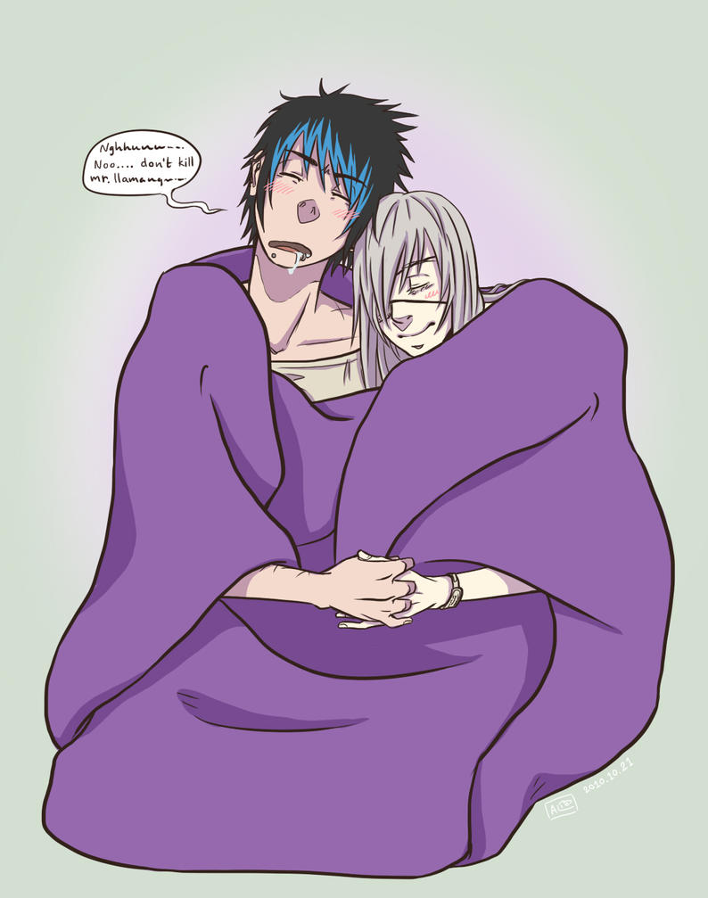 RGB - Purple blanket by Kumagorochan