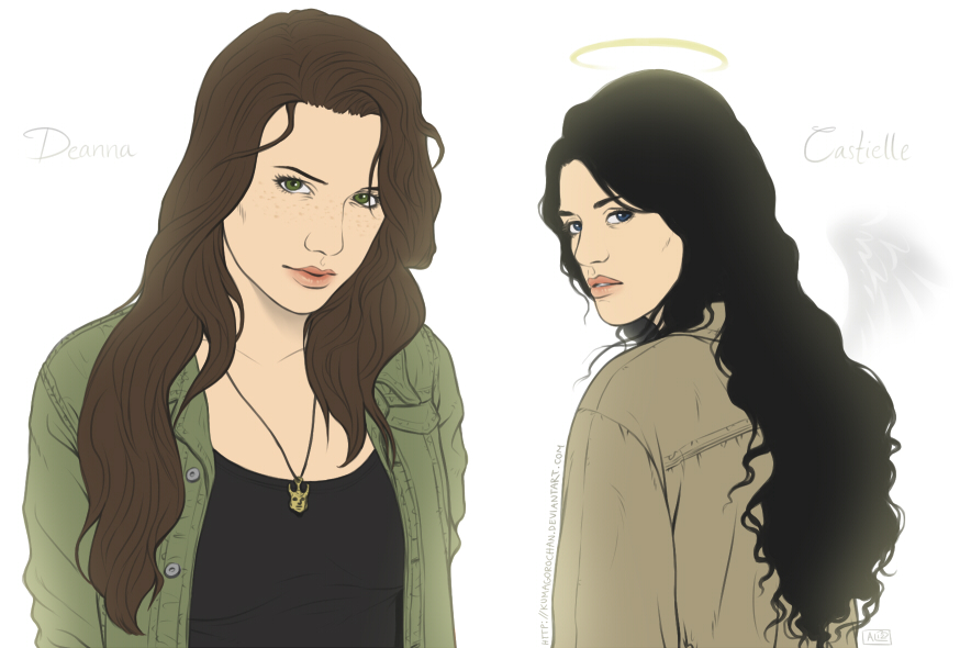 Supernatural - Deanna and Castielle by Kumagorochan