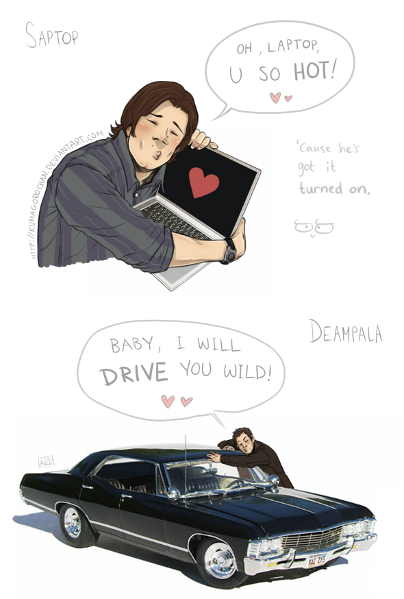 Supernatural - Saptop + Deampala by Kumagorochan