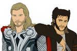Fandom Challenge - Thor and Wolverine