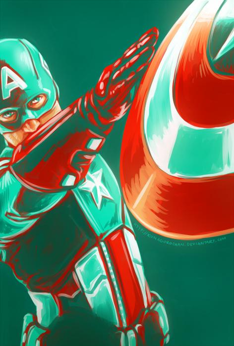 Avengers - Captain America by Kumagorochan