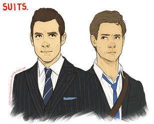 Suits - Harvey and Mike by Kumagorochan