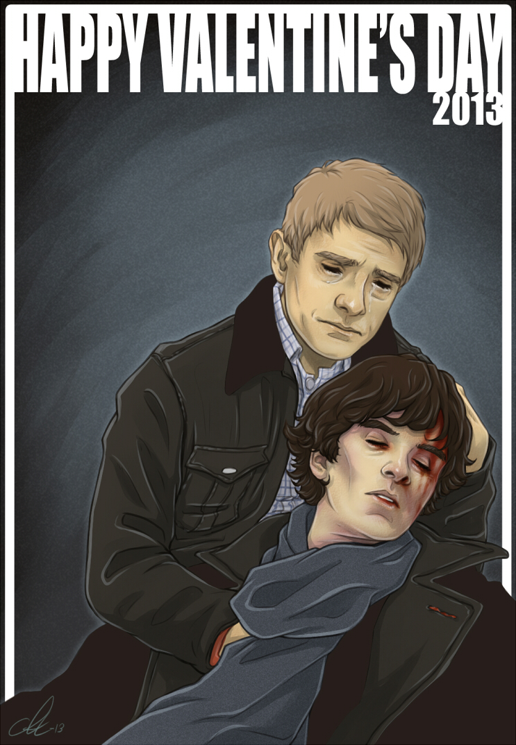 Sherlock - Valentine's 2013 by Kumagorochan