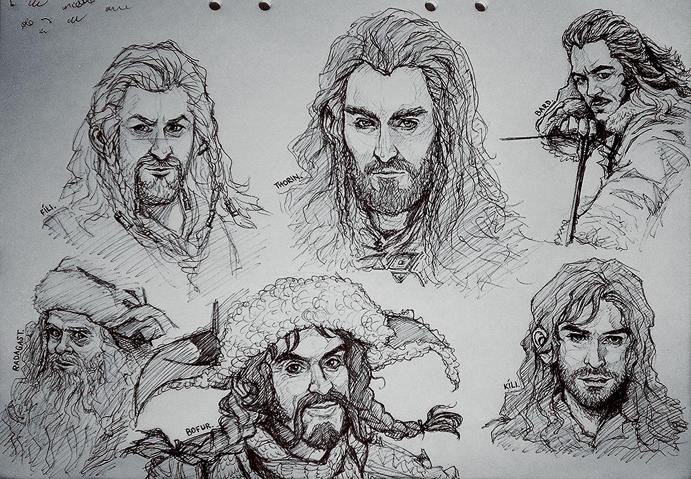 The Hobbit Doodles By Kumagorochan On Deviantart
