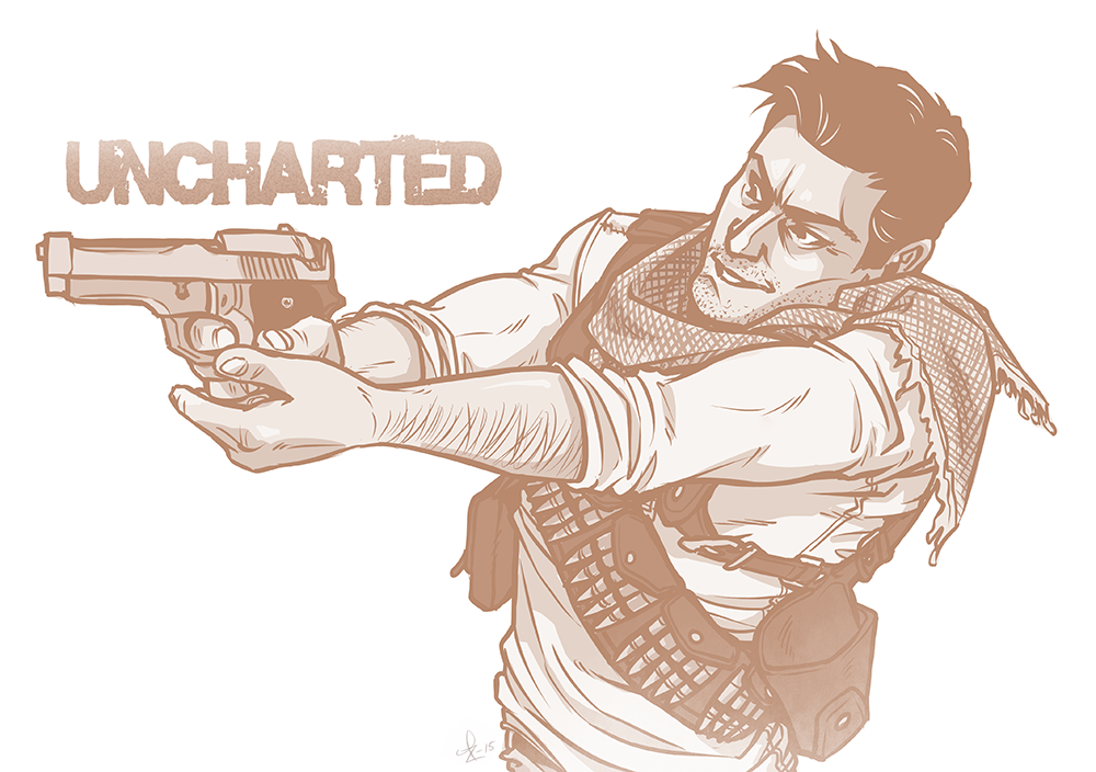 Uncharted - Nathan Drake by Kumagorochan