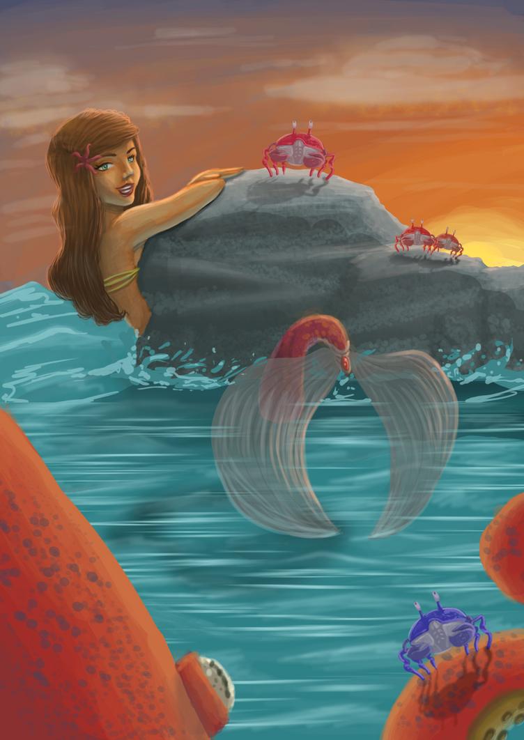 Sirena y Calamar pte 2 by Acamayo