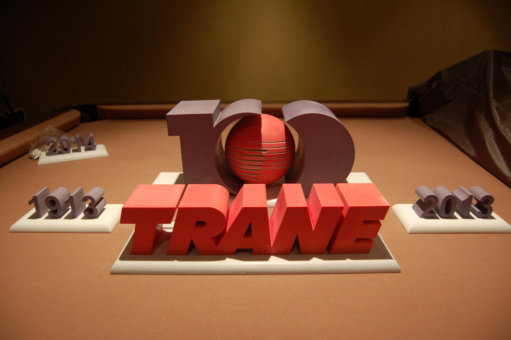 3d printed trane 100 year table top logo by lil3dprinting on 3d printed trane 100 year table top logo by lil3dprinting sciox Choice Image