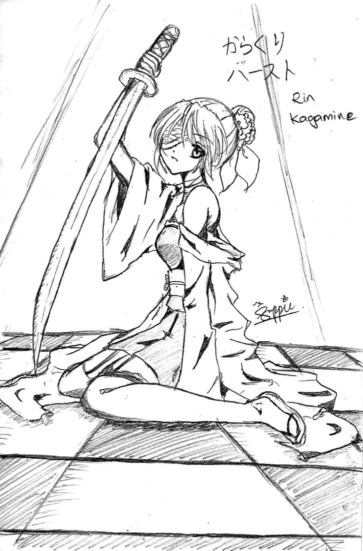 Karakuri Burst Rin by suppiechan25