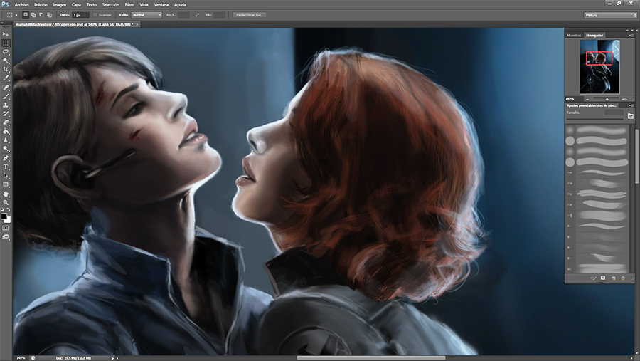 Maria Hill x Black Widow WIP by Nia90