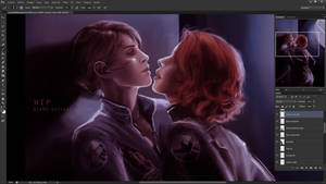 Maria Hill x Black Widow WIP 2