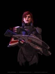 Commander Shepard by Nia90