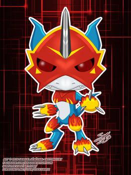 Digimon Flamedramon Funko Pop