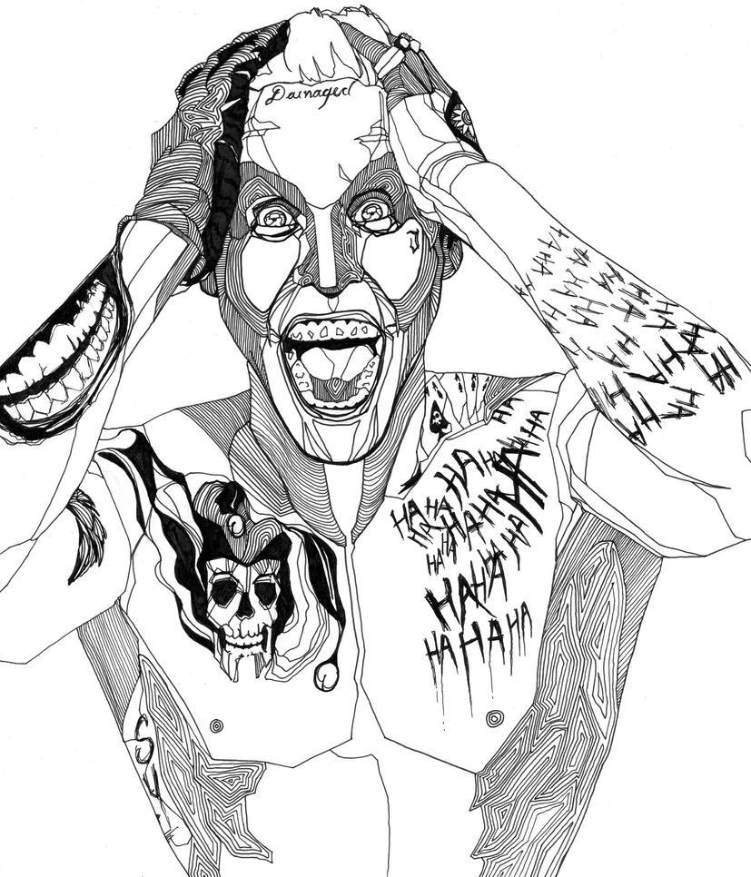 The Joker Line Art : Jared joker by delanceythrone on deviantart