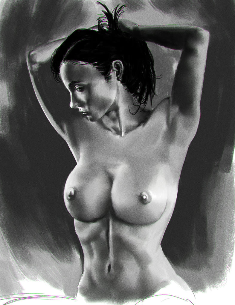 Topless Woman - practice by feeesh