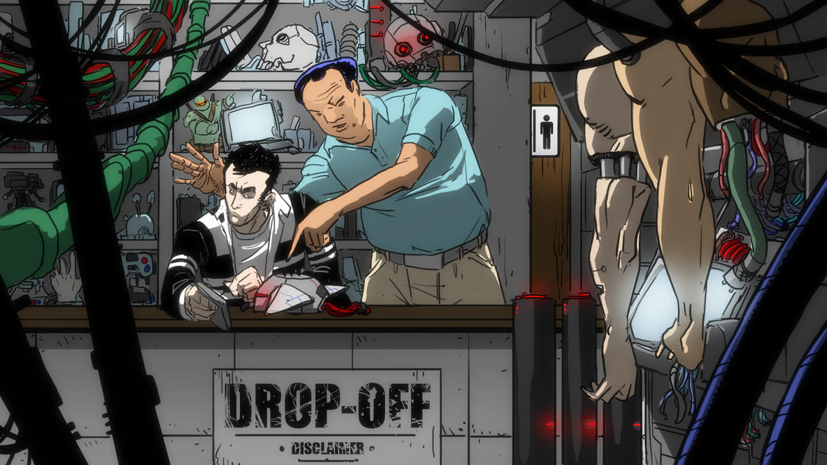 working in the Tech Shop - color by feeesh