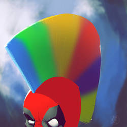 Deadpool Mohawk Spitpaint by feeesh