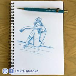 Sketch | Girl Sitting