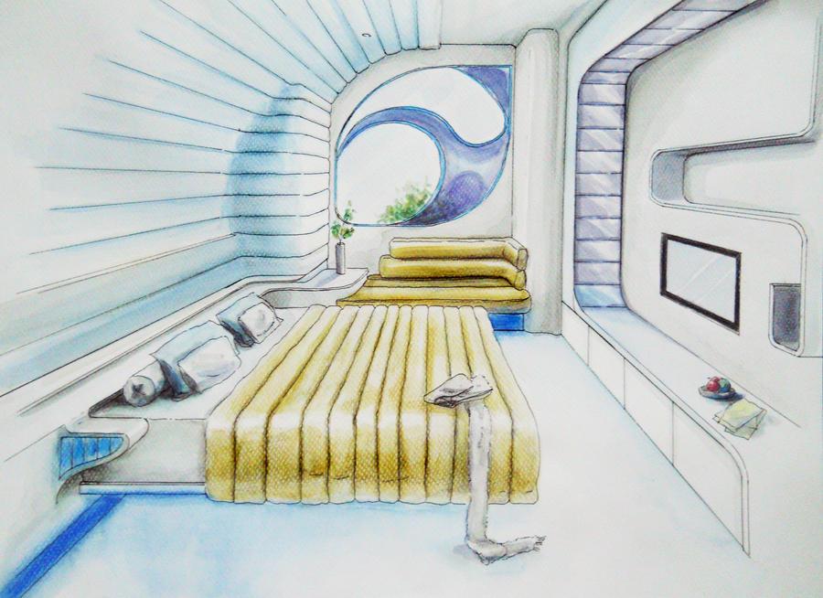 futuristic bedroom by shinvan on deviantart