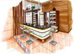 Modern Tropical pantry bar