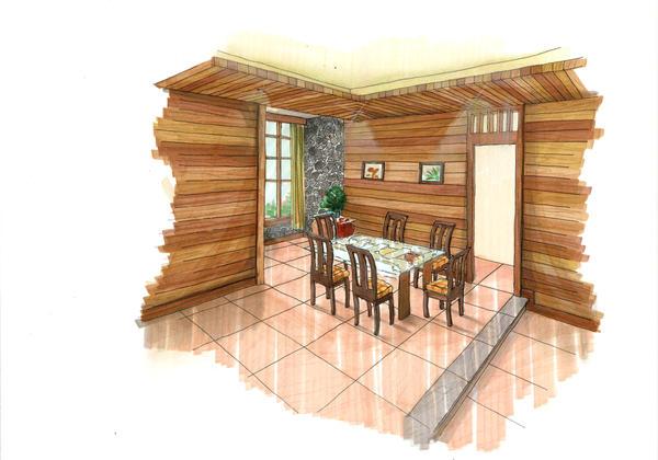Modern Tropical Dining Room By Shinvan ...