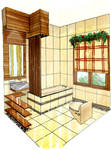 Modern Tropical Small Bathroom
