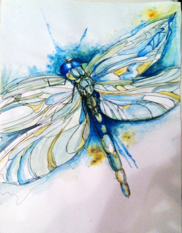 Dragonfly Blue Paint