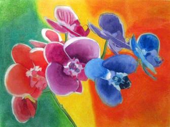 Bright Rainbow - watercolor