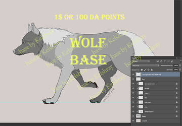 WOLF BASE FOR SALE by Kelshray