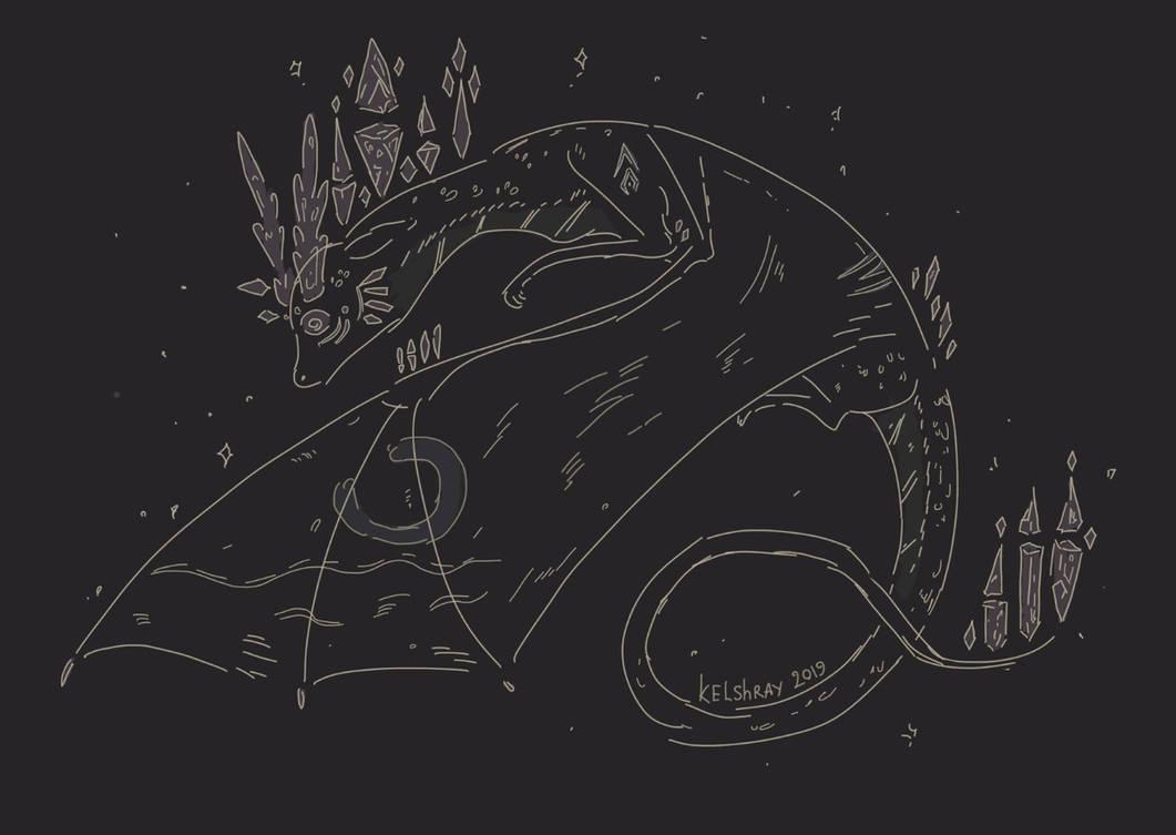 Dragon Sketch - from raffle by Kelshray