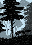 Dark forest by Kelshray