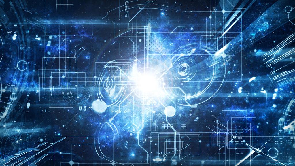 Techno Galaxy Blue by txvirus