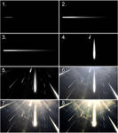 Meteor Shower Before and After