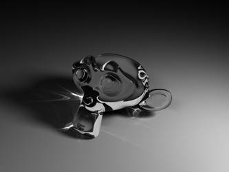 Glass Monkey by ortzinator