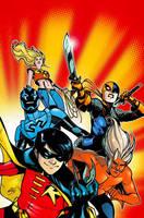 Teen Titans 56 Cover by rafaelalbuquerqueart